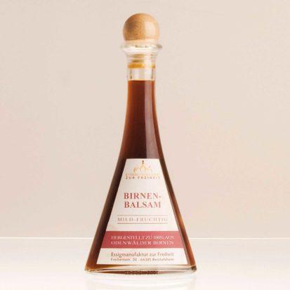 """Essigspezialität """"Birnenbalsam"""" Flasche 0,1 L"""