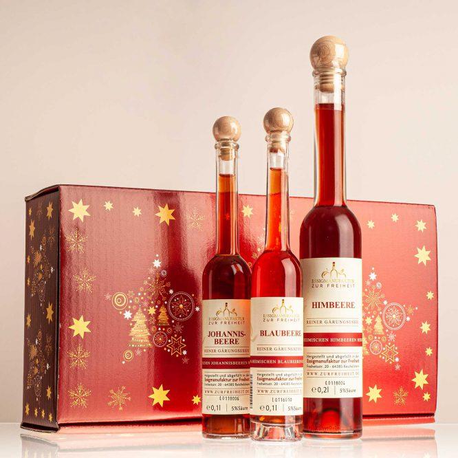 Geschenkset Beerenstark Weihnacht Essigmanufaktur Zur Freiheit