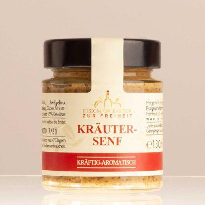 Kräutersenf, Kräftig-aromatisch, Glas 130 Ml