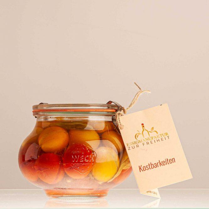 Paradiesäpfelchen in Tomatenessig, Glas 510 ml - Essigmanufaktur zur Freiheit
